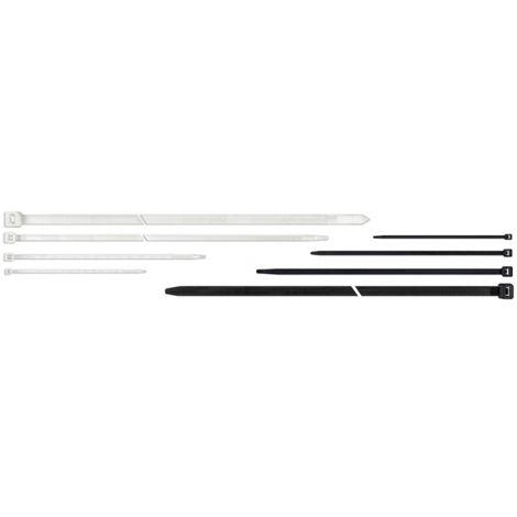 100 Colliers de serrage type RILSAN / COLSON Blanc 200 x 3,6 mm