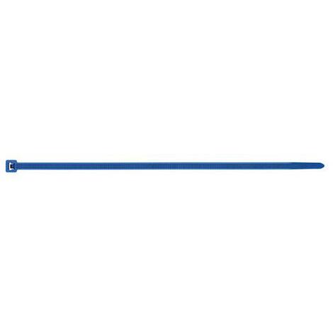 100 Colliers détectable nylon bleu - L. 370 x l. 7,6 mm