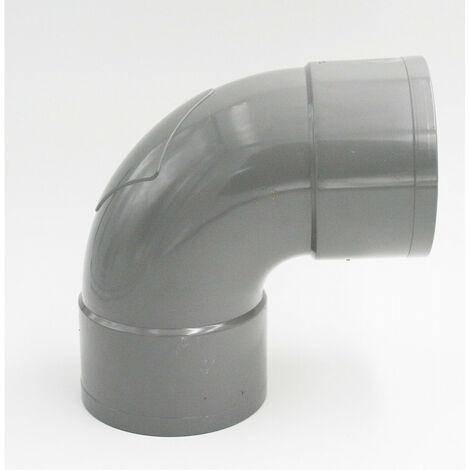 ø 100 - Coude PVC diamètre 100-87°30' FF