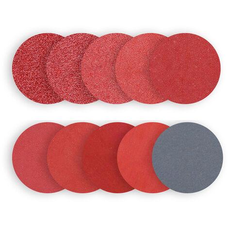 100 discos de lija de 5 \'\', con 8 agujeros 60 80100120 Juego de papel de lija de grano 240, para esmerilar y pulir
