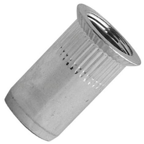 100 écrous à sertir crantés acier zingué TF, D. M8 x 19 mm - TCK0845 - Scell-it