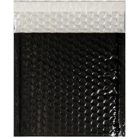 100 Enveloppes Bulle d'Air Métalisée Type C5 - Format 250x180 mm (NOIR)