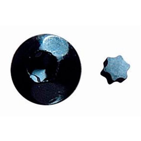 100 étoiles de tête de vis inviolable de type INVN70 noir RAL 9005 - ESTRINV40N - Index - -