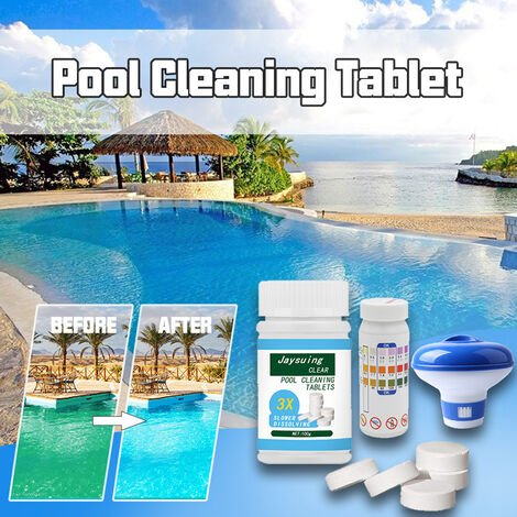100 g/3,5 oz comprimes de nettoyage de piscine desinfectant de piscine comprimes effervescents accessoire d'entretien de piscine,modele?:?tablettes de nettoyage multicolores