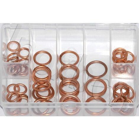 100 juntas o arandelas de cobre para carter 10 a 20 mm