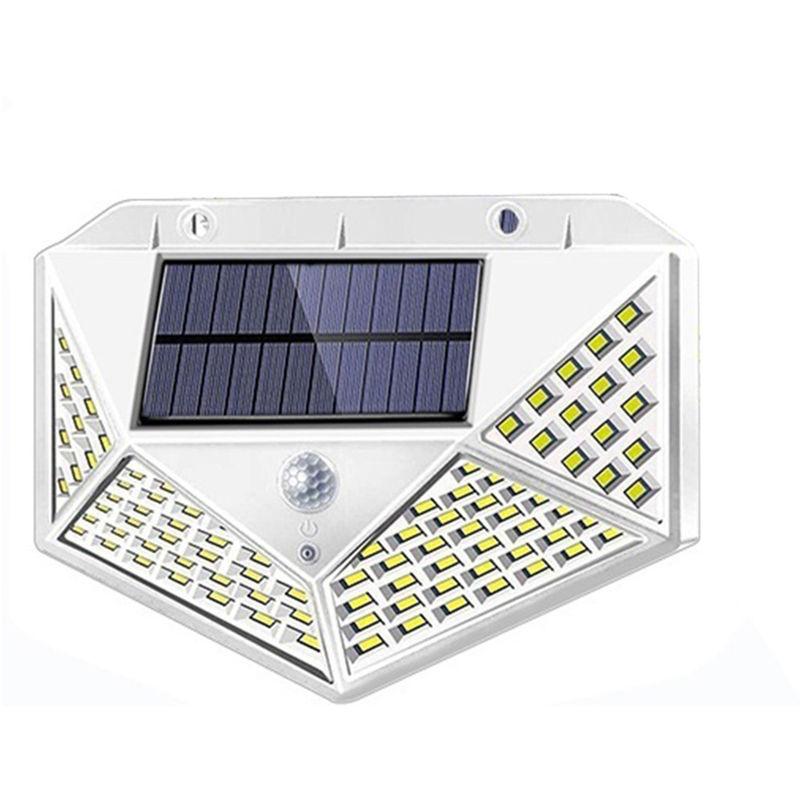 Image of 100 Led 1200 Mah Solar Lights Outdoor Solar Powered Motion Sensor Lights, White - ASUPERMALL