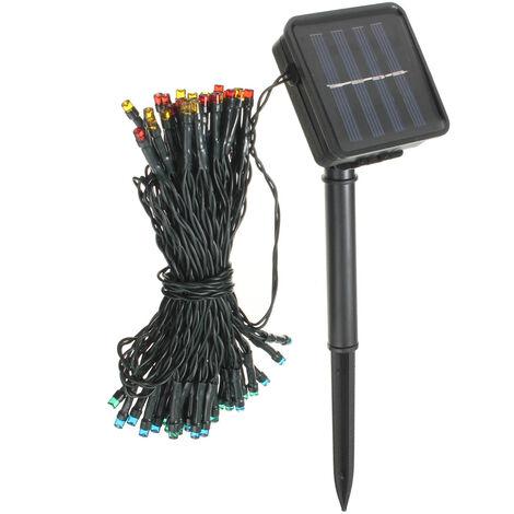 100 LED Solar Powered Fairy String Light Garden Party Decor Christmas Multicolor