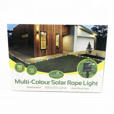100 LED Solar Rope Light