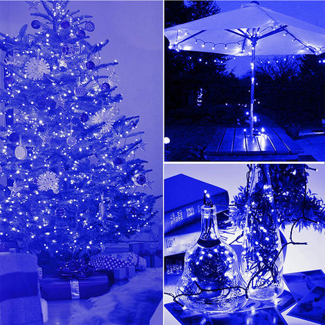 100 LEDs in 12Mtr Christmas Light Blue Colour