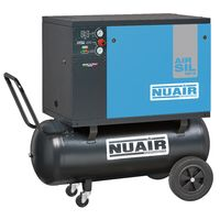 100 Litre Professional Nuair Silenced Portable Belt Drive Air Compressor - 9 CFM, 2 HP