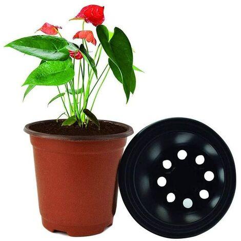 100 macetas de vivero de semillas para semillas de inicio de flores, macetas de plástico para plantas, macetas para plantas de semillero, contenedor de plantas de flores para viveros, macetas para plantas de semillero (10 * 9 cm)