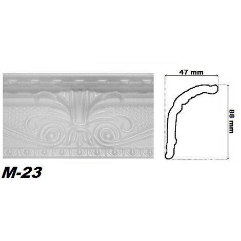 50 Meter Eckprofile Polystyrolleisten Deckenleisten Dekor Stuck 46x89mm M-24