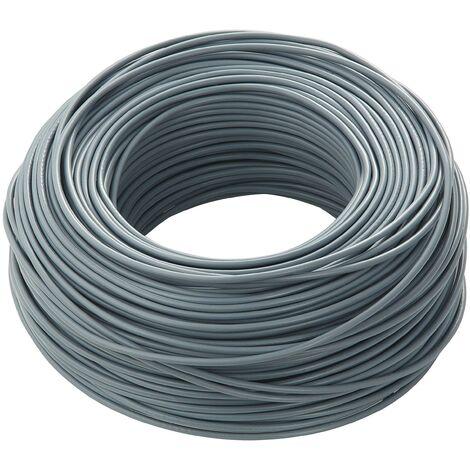 100 me'tres de cordon unipulaire fs17 section grise couleur 4mm n07v4gr/b100 fs17-4gr/b100