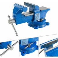 100 mm Werkstatt Schraubstock für Werkbank Drehteller Drehbar mit Amboss