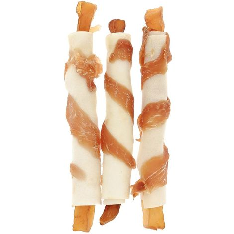 100% natural bone with spiral chicken strips and potatoes length of 12.5 cm