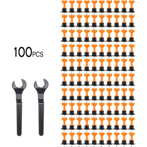 100 outils de niveleur de système de nivellement de carreaux de mur de sol ensemble Kit de construction réutilisable