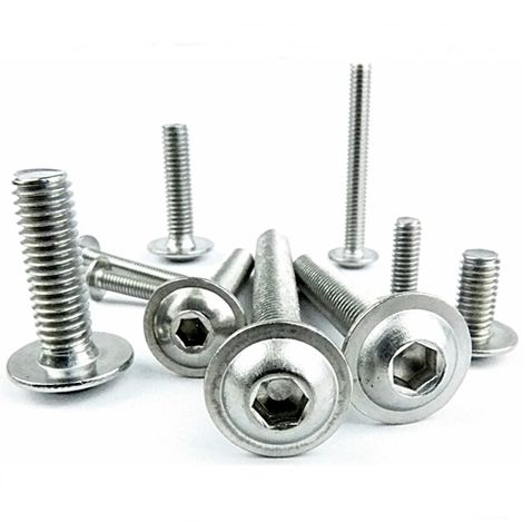 100 Pack M3X12 A2 Stainless Flanged Button Head Socket Screw Fairing Bolts