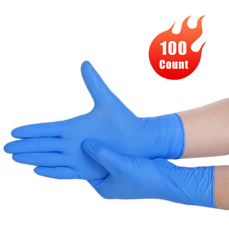 100 Pairs Disposable Nitrile Examination Gloves Powder-free Non-Latex for Medical Use Exam Gloves