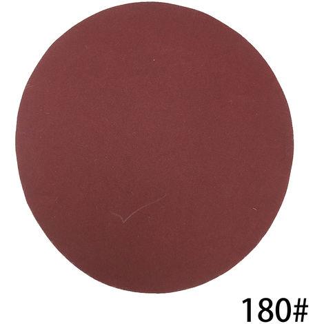100 PCS de 125 mm Discos de lijado Pad Kit para Taladro Grinder Herramientas rotativas, papel de lija lijadora de disco Abrasivos Herramientas, 180 Grit