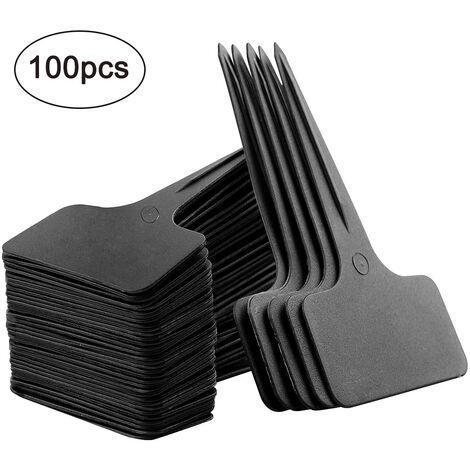 """main image of """"100 pièces étiquettes de plantes en plastique Étiquettes de jardin de type T pour pépinière étanche"""""""