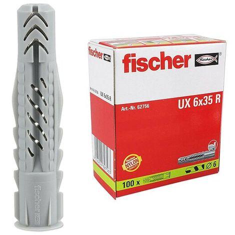 100 Stk. Fischer Universaldübel mit Rand UX 6 x 35 R - 62756