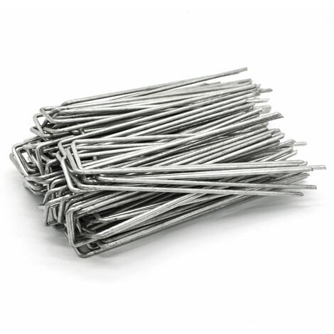 100 Stück Ø3,2mm Erdanker 150x30mm Befestigungsanker Stahl Erdnägel Bodenanker