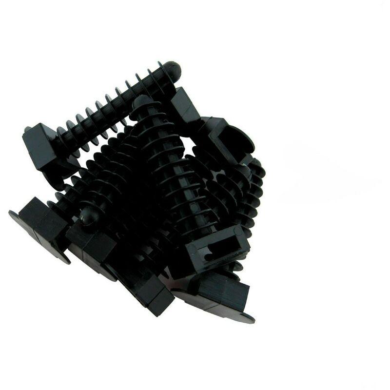 Taco a presi/ón Negro 8mm para Bridas 100 Unidades BeMatik