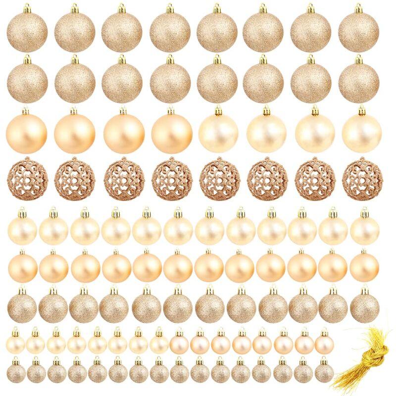 Christbaumkugeln Rosegold.100 Tlg Weihnachtskugel Set 6 Cm Rosegold