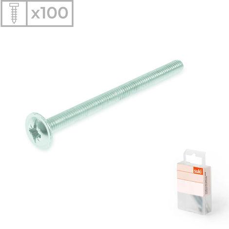100 Tornillos de carpintero de estrella fabricados en acero zincado, medidas 4x25mm