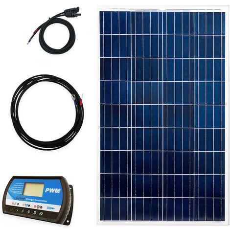 100 Watt Inselanlage 12 Volt Premium Set Solaranlage Camping, Garten, Freizeit