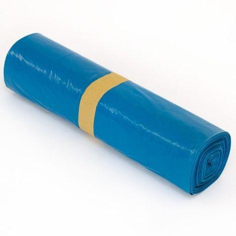100 x Müllsäcke 240 Liter Blau - LDPE MÜLLBEUTEL - Abfallsäcke