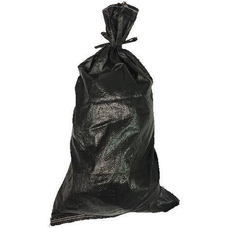 100 YUZET BLACK SANDBAG POLYPROPYLENE WOVEN UV PROOF ROT PROOF - EMPTY