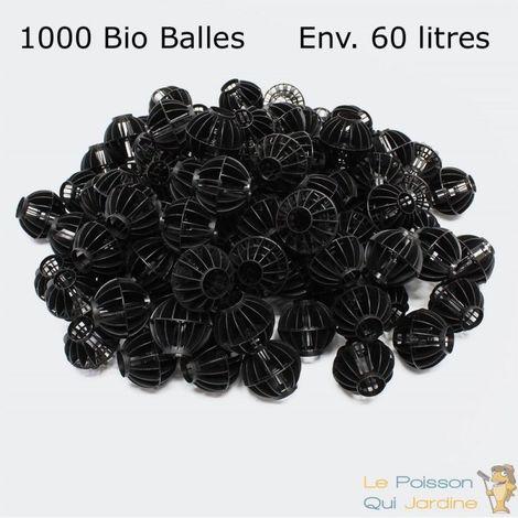 1000 Bio Balles ( 60 Litres ) 45mm Pour Filtre Bassin De Jardin