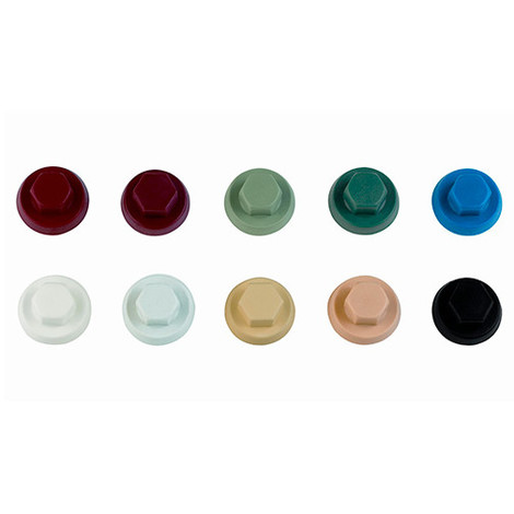 1000 capuchons nylon pour vis à tête hexagonale M10 RAL 3011 - ATAPO10RT - Index - -
