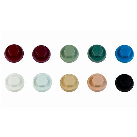 1000 capuchons nylon pour vis à tête hexagonale M10 RAL 9018 - ATAPO10BO - Index - -