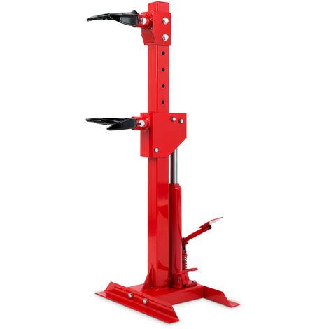 1000 kg Compresseur hydraulique pour ressort damortisseur (10 - 25 cm Taille de ressort, 330 mm Course du vérin, 1T Tension)