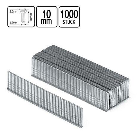 1000 Nägel für Tacker Nagler Stahlstifte Länge 10 /12 / 14 mm wählbar