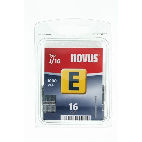 1000 Novus Nägel 16 mm,Typ J/16mm für Hammertacker, Tacker-Klammern, Nr.: 044-0063
