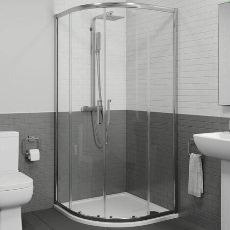 1000 x 1000mm Quadrant Shower Enclosure Walk In Cubicle Framed 8mm Safety Glass