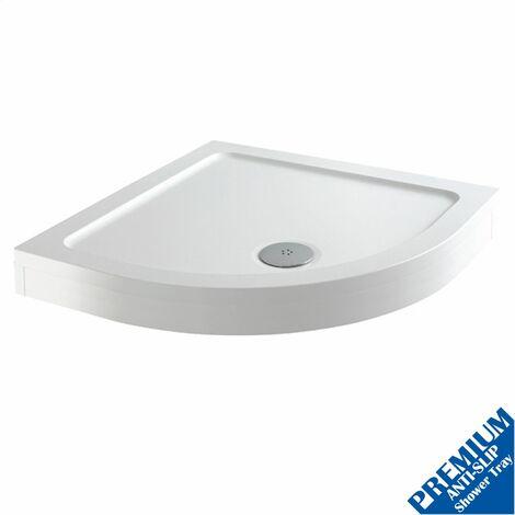 1000 x 1000mm Quadrant Shower Tray Easy Plumb Premium Anti-Slip FREE Waste