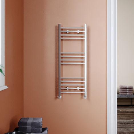 1000 x 400 mm Straight Towel Rail Radiator Chrome Bathroom Towel Radiator
