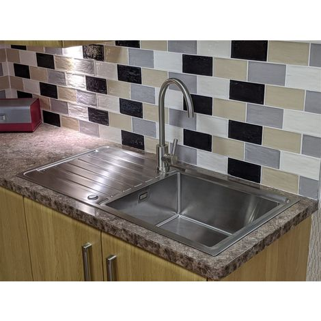 1000 x 500 Superdeep 0.8mm Stainless Steel Sink (200mm deep)