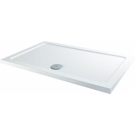 1000 x 760mm Sliding Shower Enclosure Door Side Panel 8mm Frameless Tray Waste
