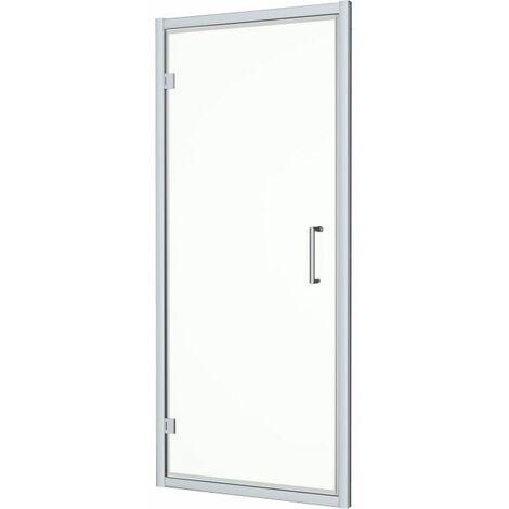 1000 x 800mm Framed Hinged Bathroom Shower Door Enclosure Walk-In 8mm Glass Tray