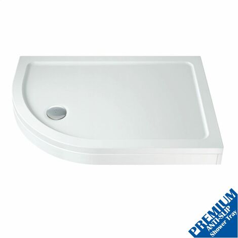 1000 x 800mm Offset Quad Shower Tray Left Entry Easy Plumb Anti-Slip FREE Waste