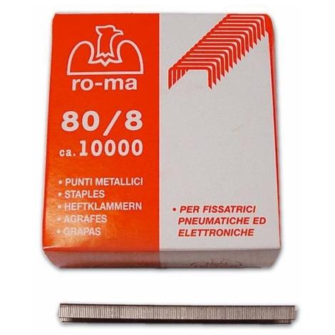 80//14 cf PUNTI PER FISSATRICE PNEUMATICA mek 80  mod 10000 pz ROMEO MAESTRI