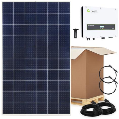 10.000 Watt Hausnetzeinspeisung Solaranlage Photovoltaik SET 10 KW 3-phasig