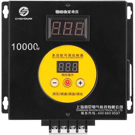 10000W hogar compacto variable Controlador de Voltaje Velocidad Temperatura portatil de luz Voltaje Adjuatable Regulador Dimmer