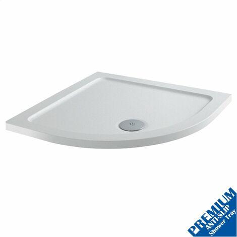 1000mm Quadrant Shower Tray Low Profile Lightweight Premium Anti-Slip FREE Waste