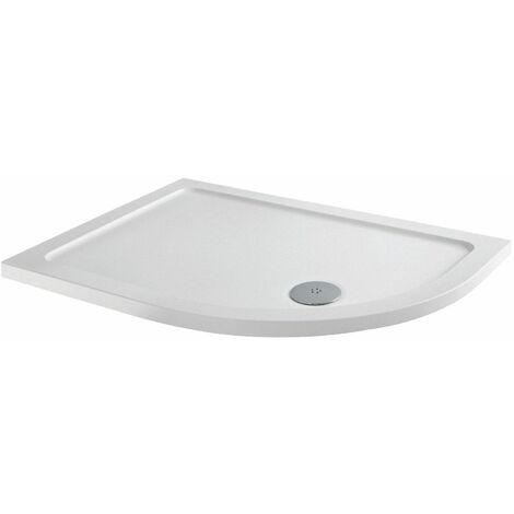 1000mm x 800mm RH Offset Quadrant Shower Enclosure Framed 8mm Glass Tray Waste
